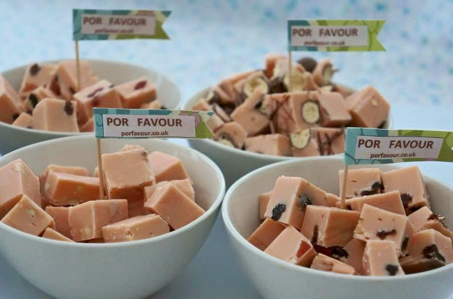 Fudge in bowls